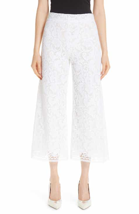 Adam Lippes Lace Crop Wide Leg Pants by ADAM LIPPES