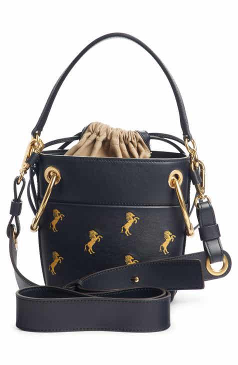 49273fd733ce Chloé Roy Mini Embroidered Leather Bucket Bag