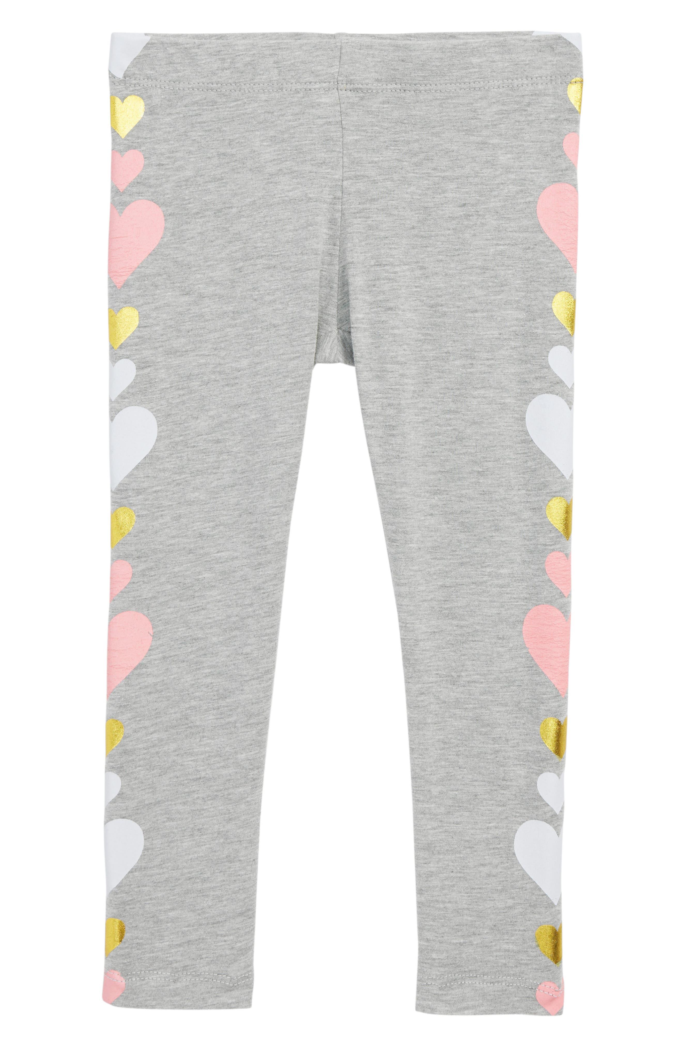 Graphic Leggings,                         Main,                         color, Grey Md Heather Multi Heart