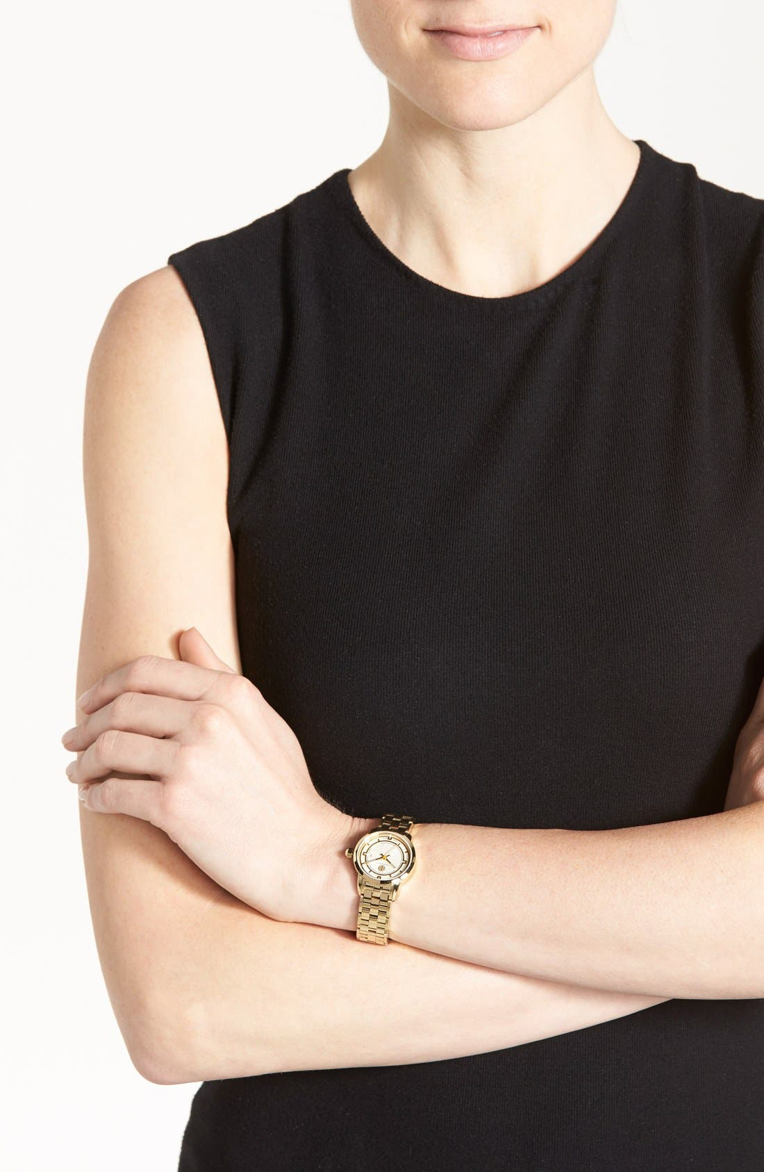 Alternate Image 5  - Tory Burch 'Tory' Small Round Bracelet Watch, 28mm