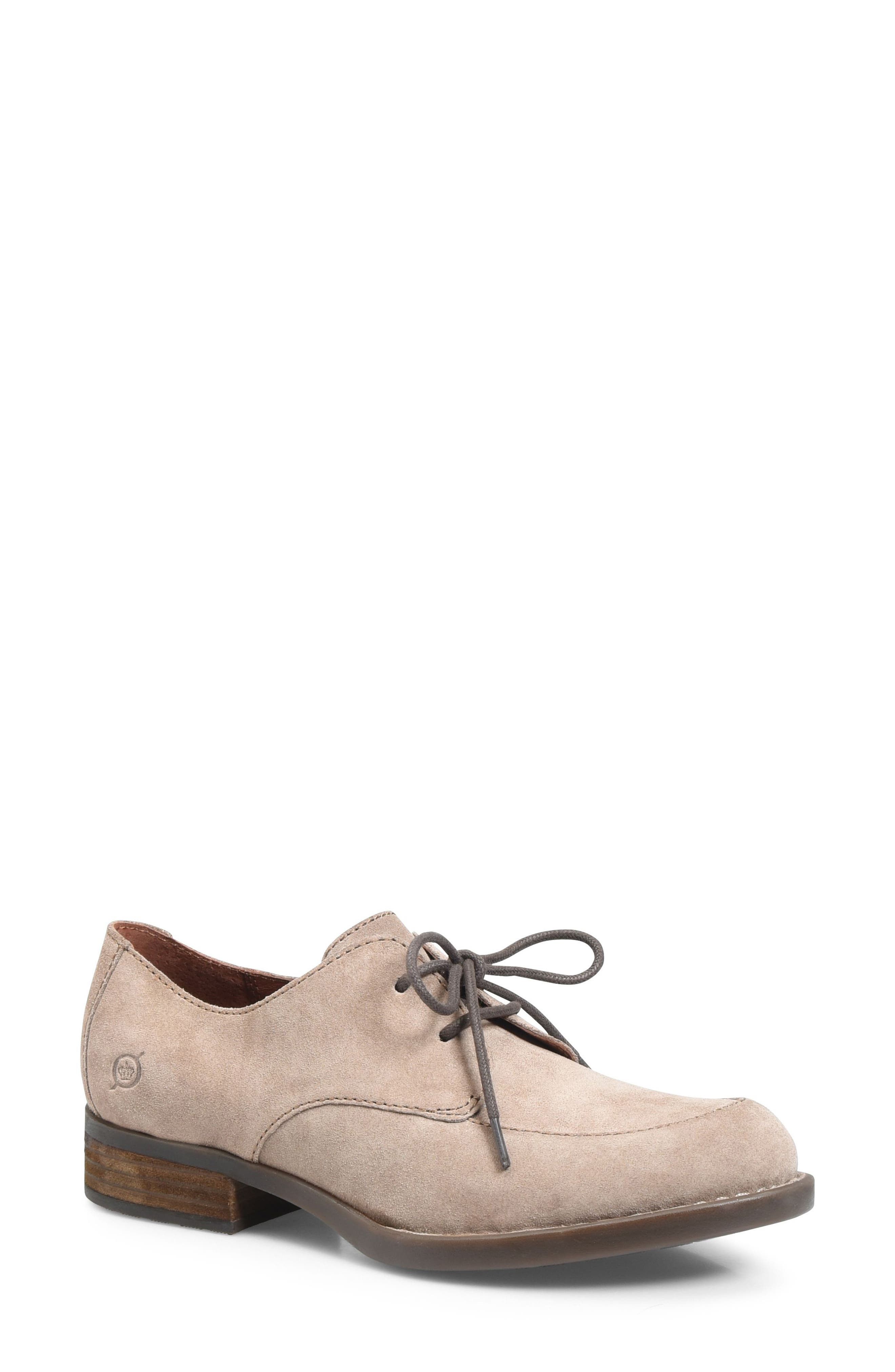 Rora Derby,                             Main thumbnail 1, color,                             Taupe Suede