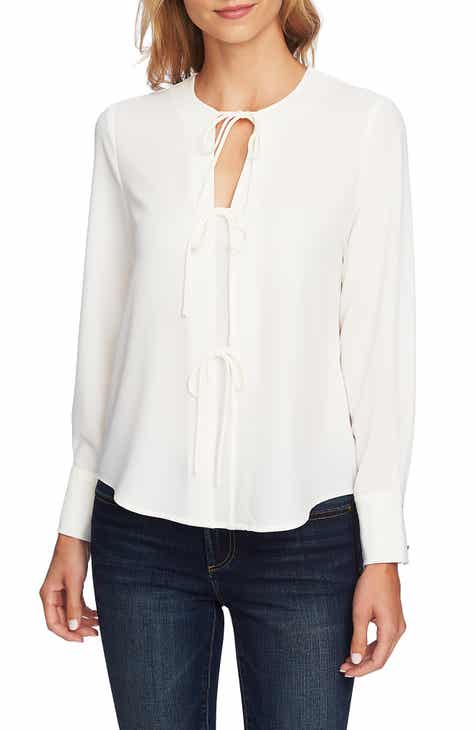 1.STATE Center Tie Blouse