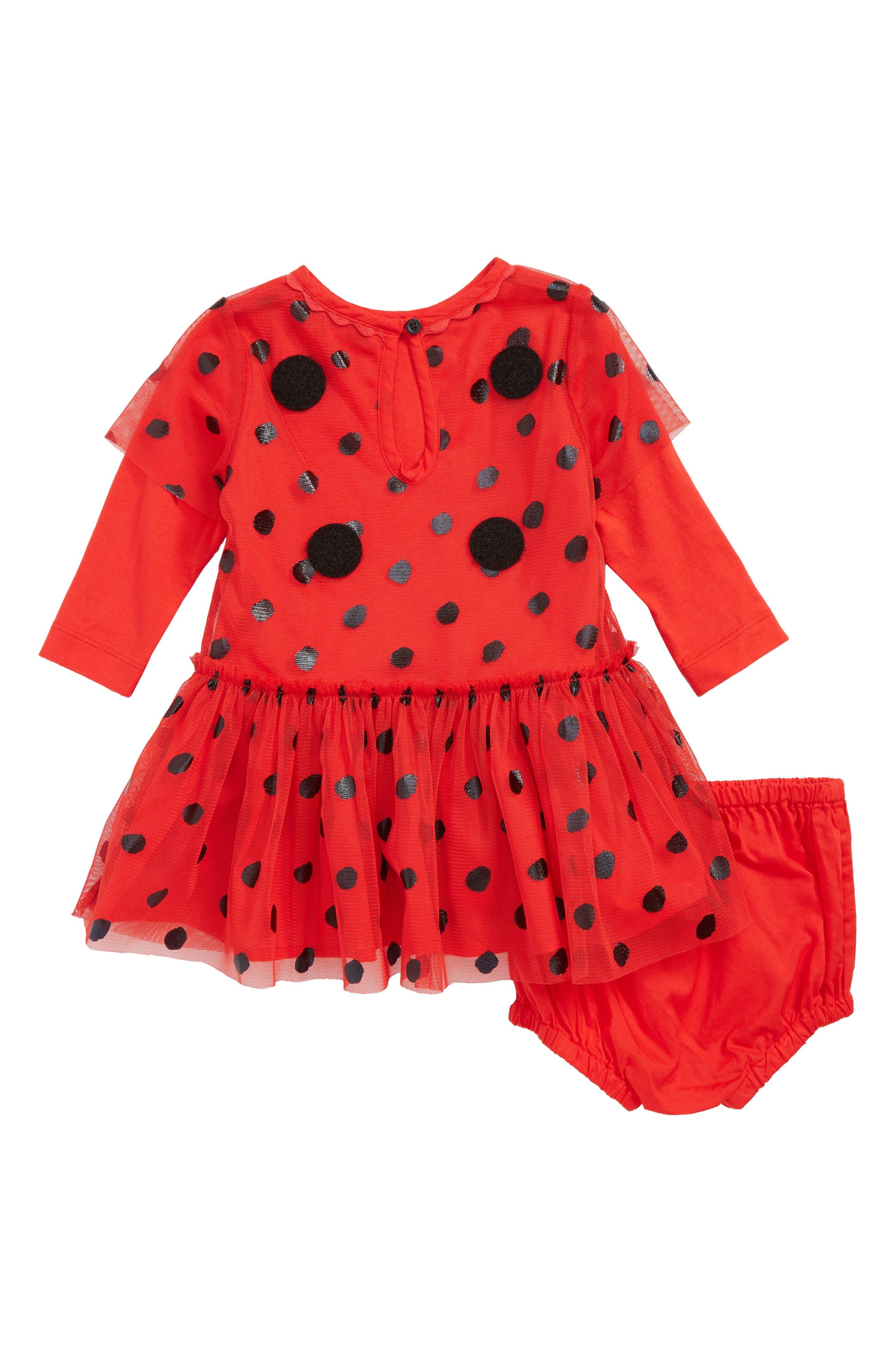 Mouse Dress & Wings Set,                             Alternate thumbnail 3, color,                             Red Black