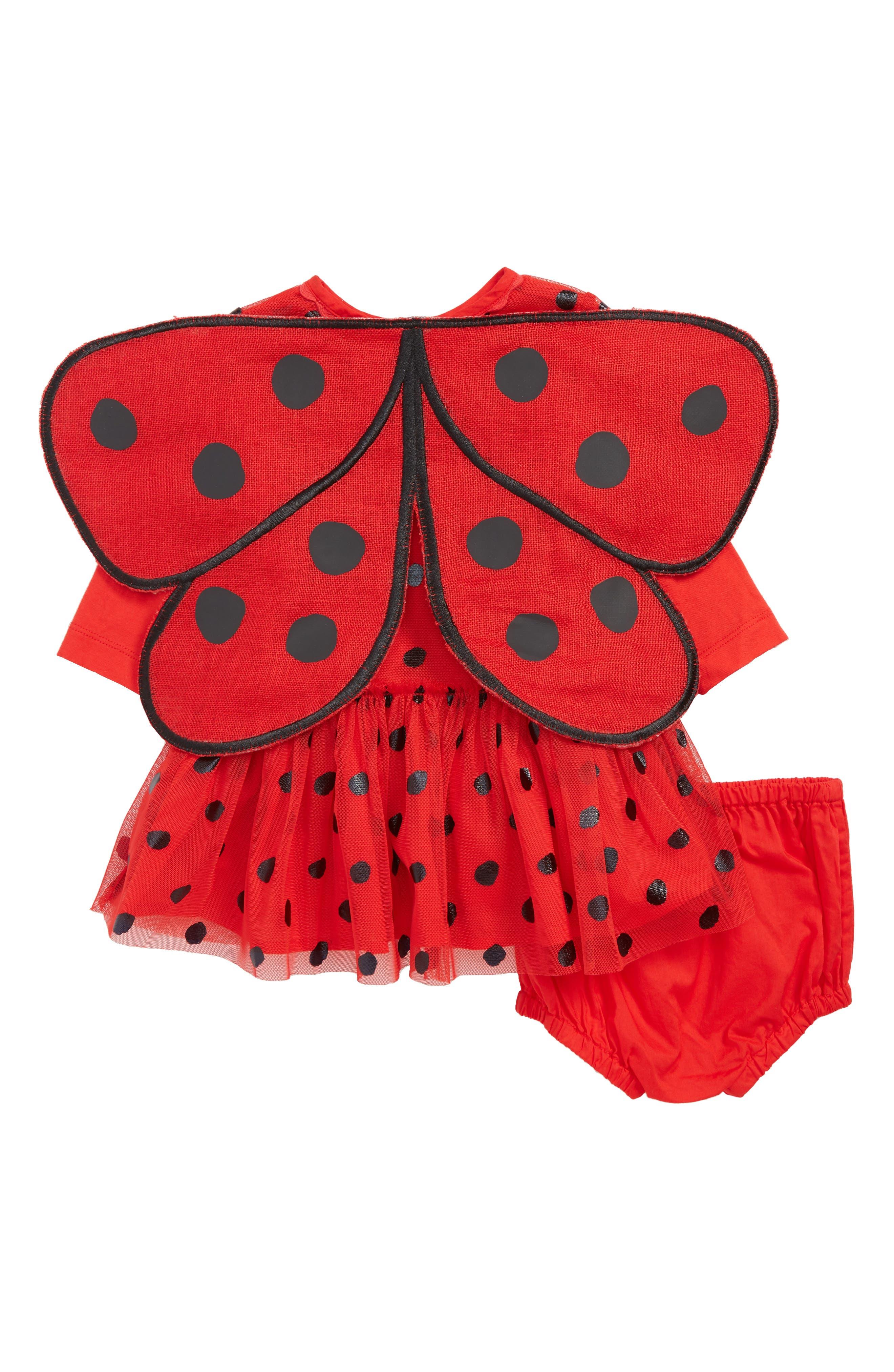 Mouse Dress & Wings Set,                             Alternate thumbnail 2, color,                             Red Black