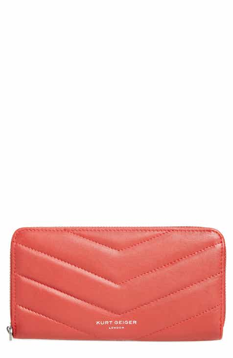 e7f68b022b2a Kurt Geiger London Zip Around Leather Wallet