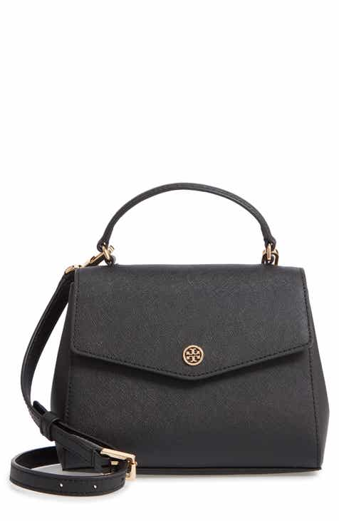 Tory Burch Robinson Small Leather Satchel