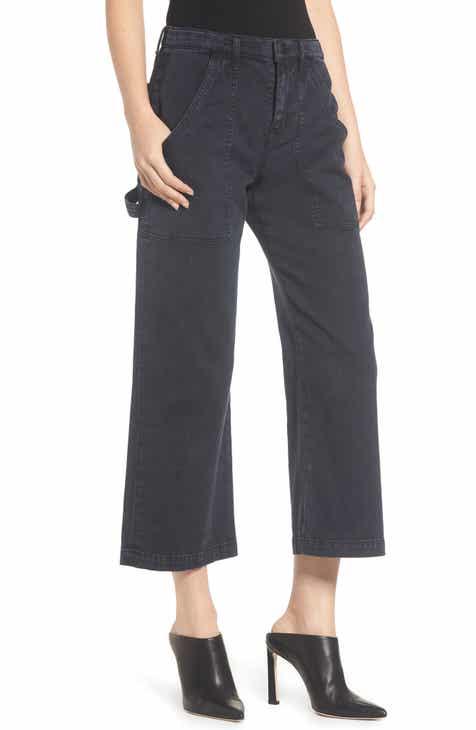 Hudson Jeans Crop Straight Leg Cargo Pants