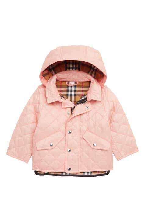 a107c6cf94ed2 Burberry Ilana Quilted Water Repellent Jacket (Baby Girls)