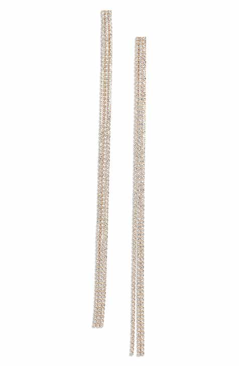 Something Navy Long Drama Linear Earrings Nordstrom Exclusive