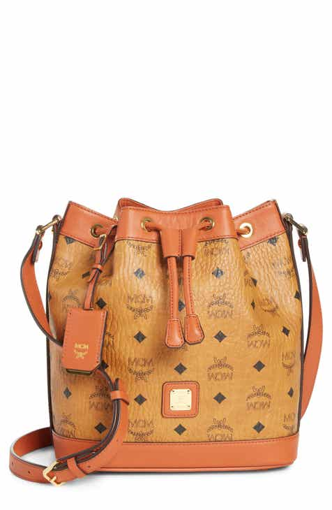 06aab8ea3e1282 MCM Small Vintage Visetos Coated Canvas Drawstring Bag (Nordstrom Exclusive)