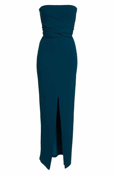 Lulus Own the Night Strapless Maxi Dress 1ad46212a