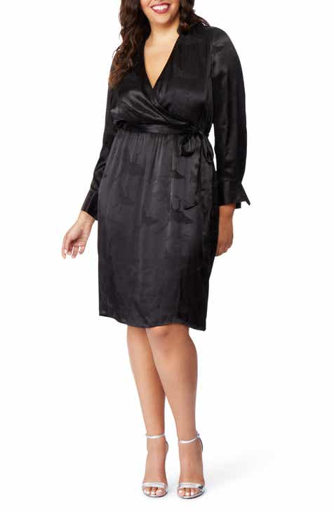 Rebel Wilson X Angels Jacquard Faux Wrap Dress Plus Size