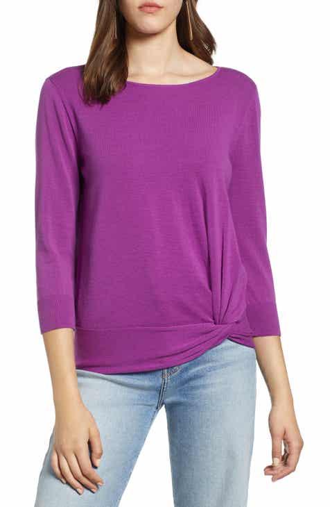 7117489ec8b6a Halogen® Front Twist Sweater