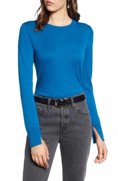c875c2f87cabad Halogen® Slit Sleeve Sweater (Regular   Petite)