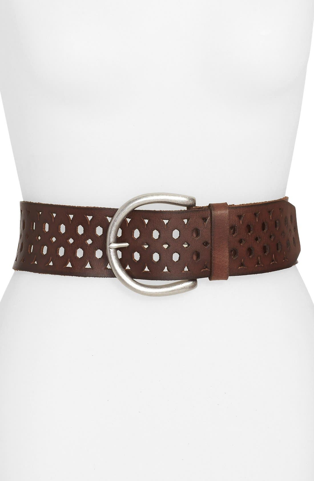 Main Image - Lucky Brand Cutout Leather Belt