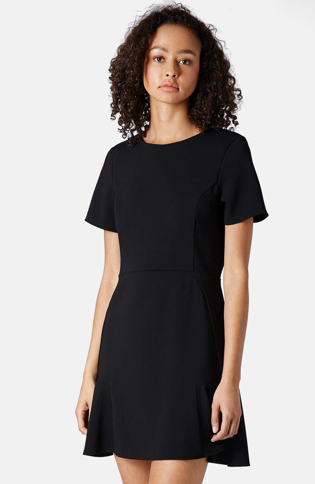 Main Image - Topshop Flared Crepe Dress