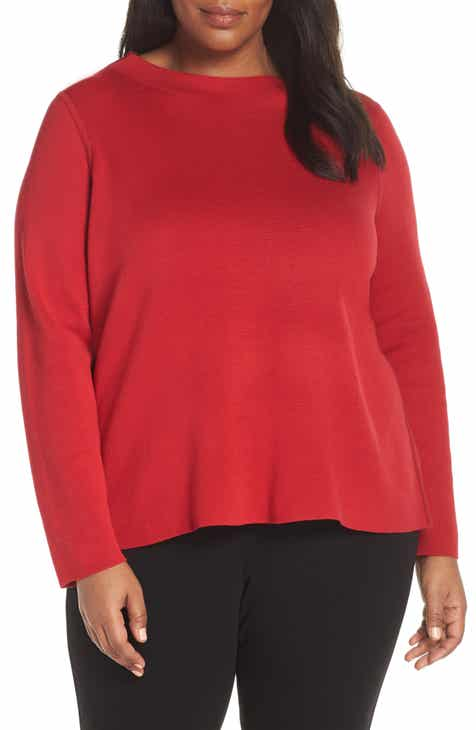 Eileen Fisher Reversilble Silk Blend Sweater (Regular, Petite & Plus Size) by EILEEN FISHER