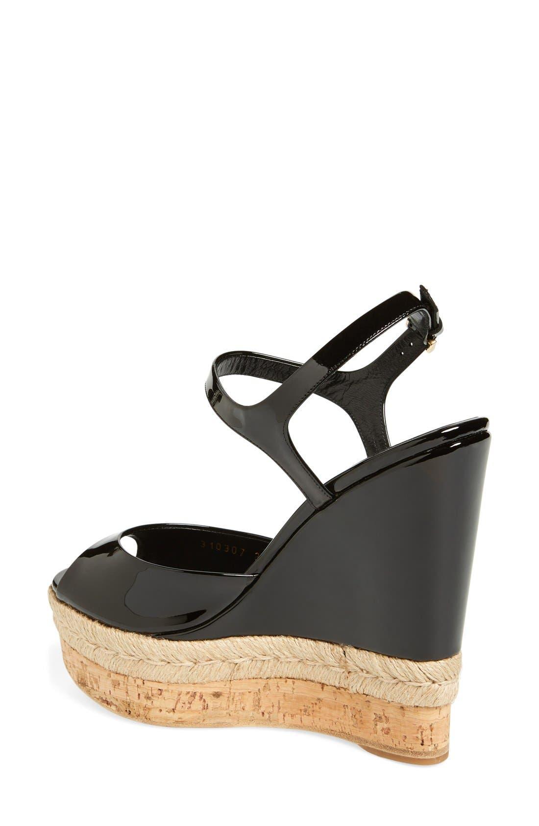 Alternate Image 2  - Gucci 'Hollie' Wedge Sandal