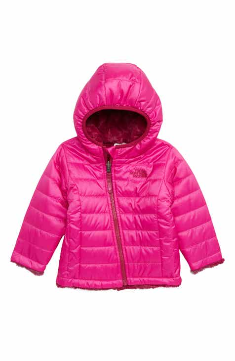 ea879f10f3d The North Face Mossbud Swirl Reversible Water Repellent Heatseeker™  Insulated Jacket (Baby Girls)