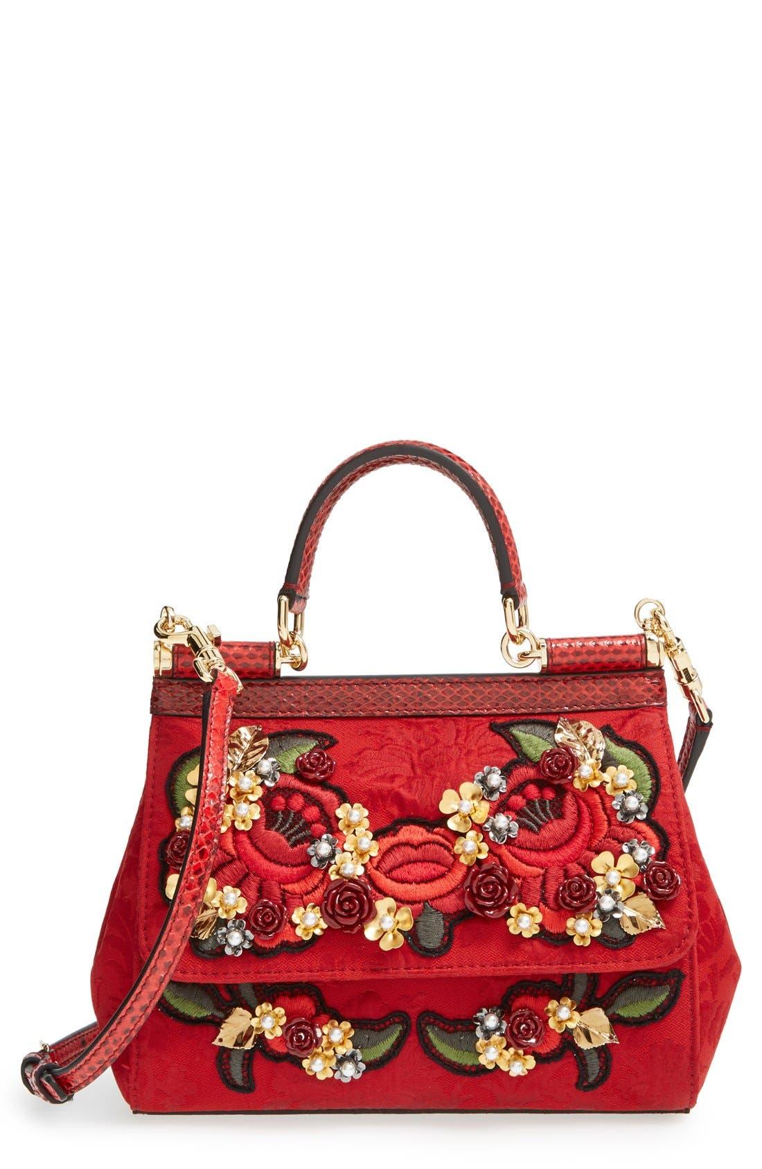 Alternate Image 1 Selected - Dolce&Gabbana 'Miss Sicily' Floral Brocade Satchel