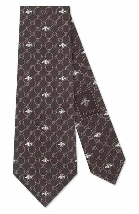 5ec5080e5ba05 Gucci GG Bee Silk Tie