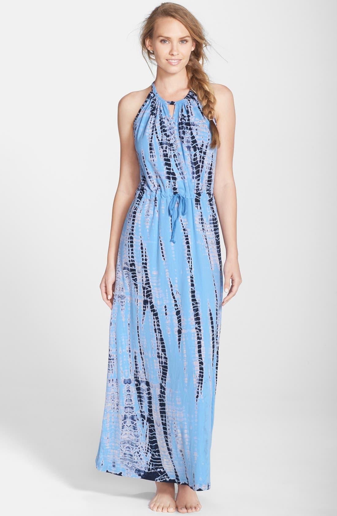 Main Image - Hard Tail Surplice Maxi Dress