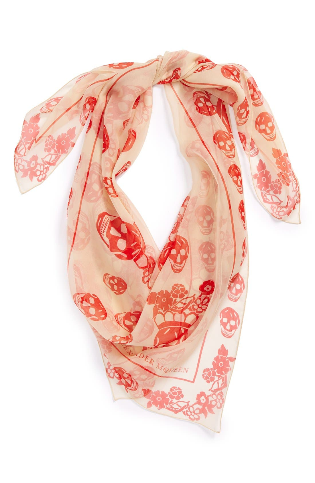 Alternate Image 1 Selected - Alexander McQueen 'Skull' Silk Chiffon Scarf