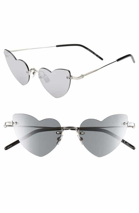 970a6f08d5 Saint Laurent 50mm Rimless Heart Shaped Sunglasses
