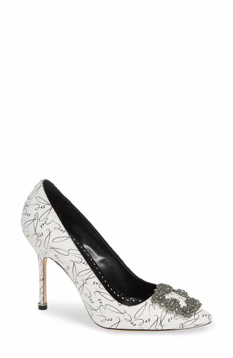 b3545dd110 Manolo Blahnik Decade of Love Hangisi Anniversary Embellished Pump (Women)  (Limited Edition)