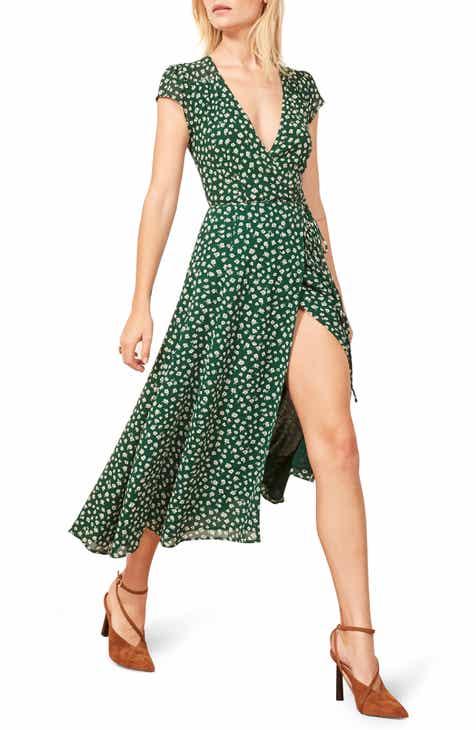 d54aeb58b8d Reformation Carina Midi Wrap Dress (Regular   Plus Size)