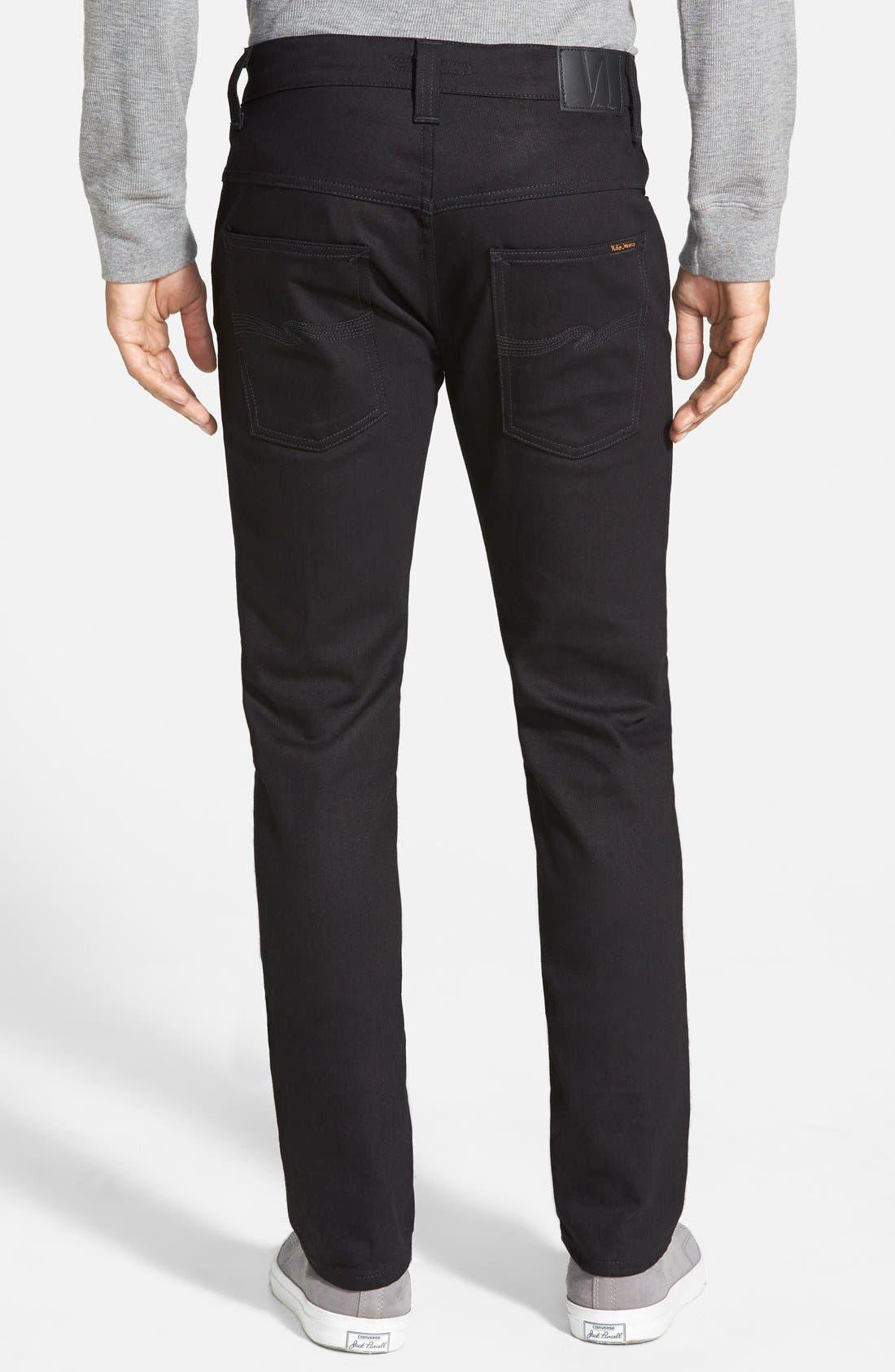 Alternate Image 2  - Nudie Jeans 'Thin Finn' Skinny Fit Jeans (Black Ring)