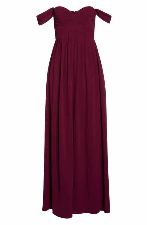209e6ea2763d Lulus Convertible Neckline Chiffon Gown
