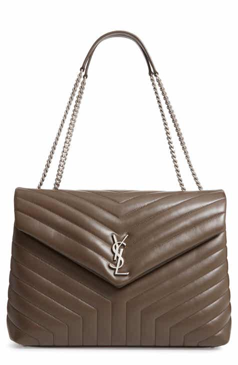 7c7bc61de87e Saint Laurent Large Loulou Matelassé Leather Shoulder Bag
