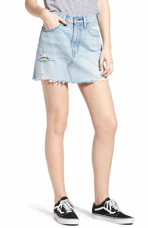 deeebc02e13 Levi s® Deconstructed Denim Skirt