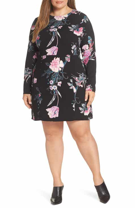 469341cbdc Leith Floral Print Minidress (Plus Size)
