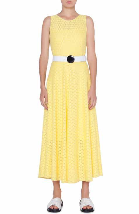 Akris punto Belted Lace Dress by AKRIS PUNTO