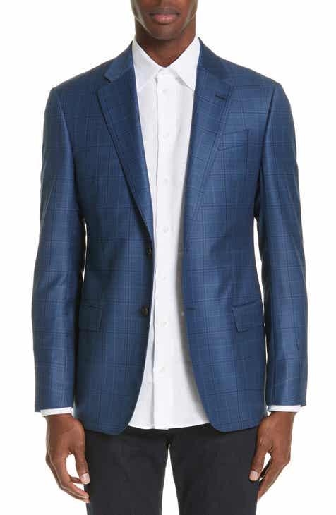 61707f41e17b Emporio Armani G Line Trim Fit Plaid Wool Sport Coat
