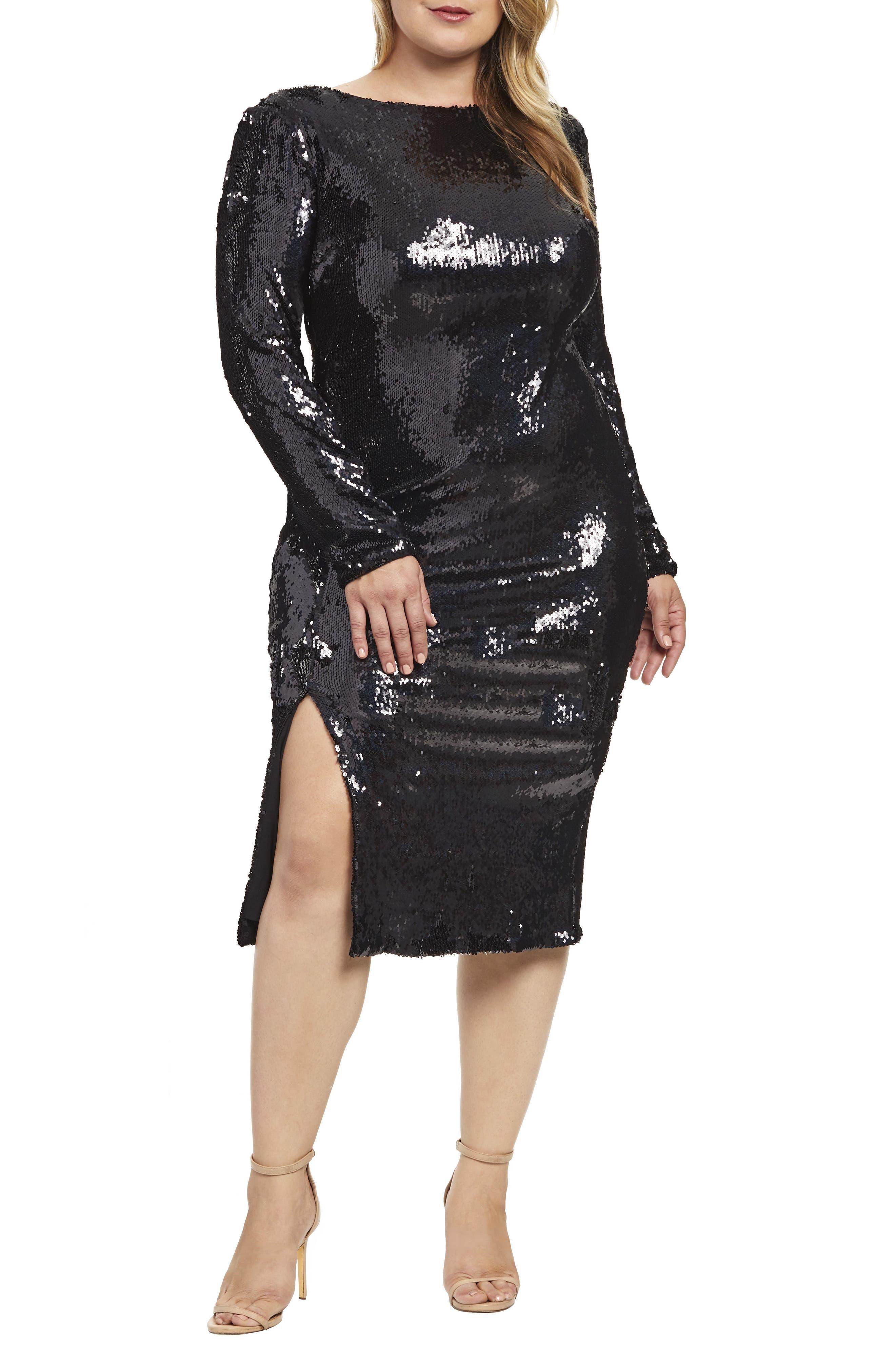 Long Sleeve Plus Size Dresses