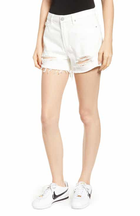 Articles of Society Meredith Ripped High Waist Denim Shorts (Varadero) by ARTICLES OF SOCIETY
