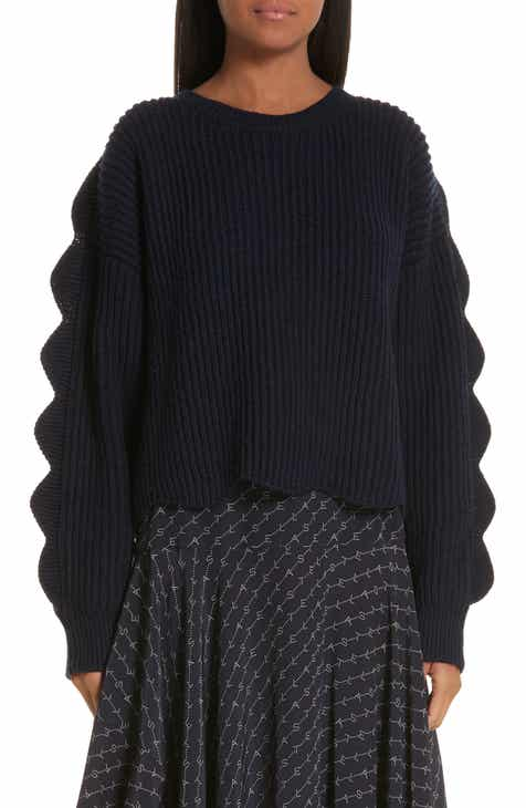 bb1621000227 Stella McCartney Scallop Crop Sweater