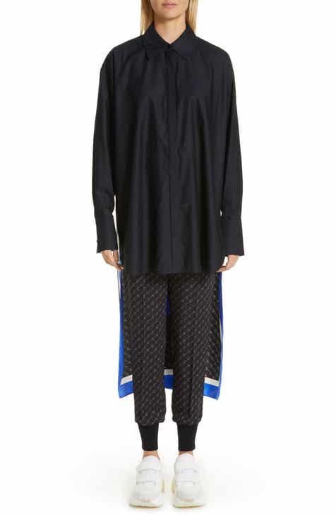 b2dd24c6ebb69 Stella McCartney Back Scarf Panel Silk Shirt