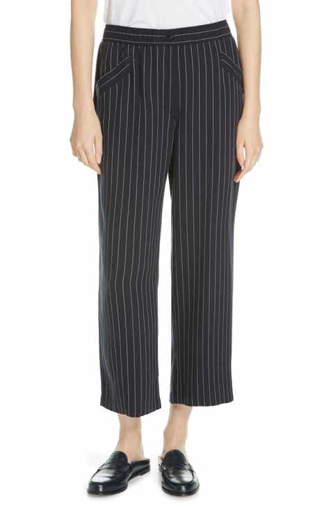 8bb921a3df46 Eileen Fisher Pinstripe Crop Wide-Leg Pants
