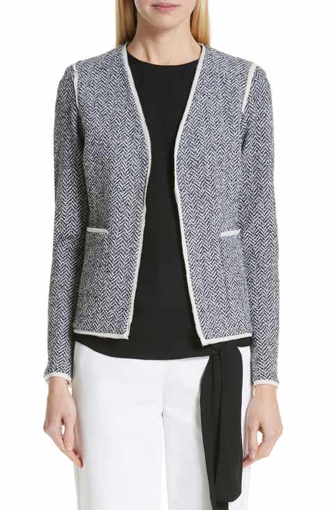 St. John Collection Abby Knit V-Neck Jacket by ST. JOHN COLLECTION