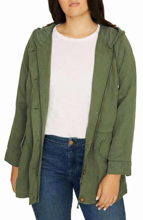433fe9e1b8ef2 Women s Green Plus-Size Coats   Jackets