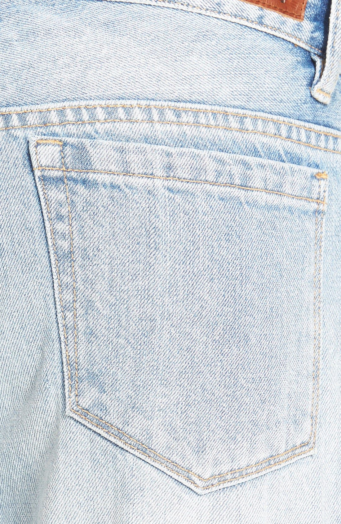 Alternate Image 3  - BLANKNYC 'My Sugar Daddy' Crop Boyfriend Jeans (Blue)