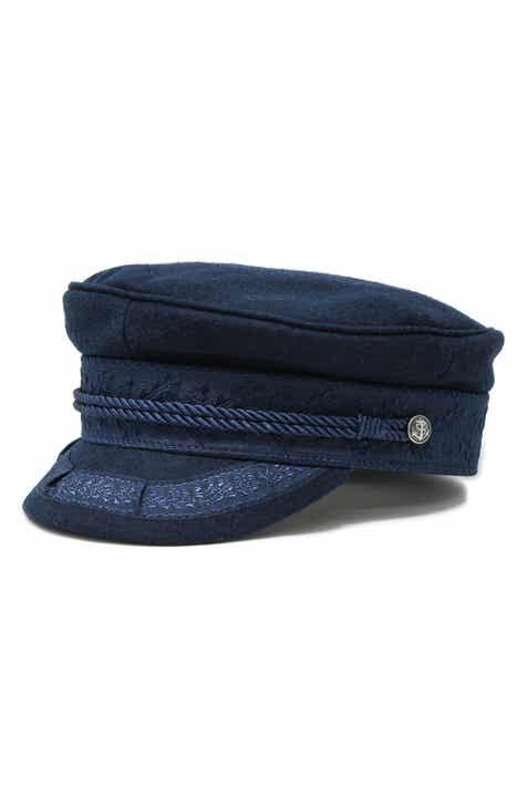 60d8eceeaeb NOAKE Addie Wool   Brocade Baker Boy Hat