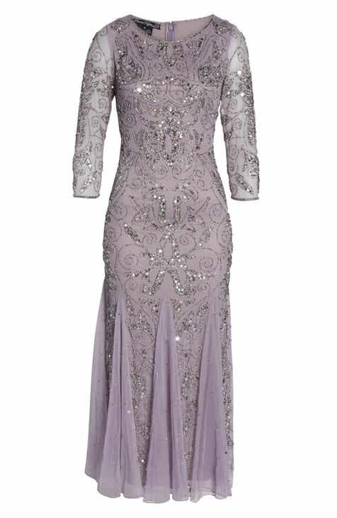 b764619b38 Pisarro Nights Embellished Mesh Gown (Regular   Petite)