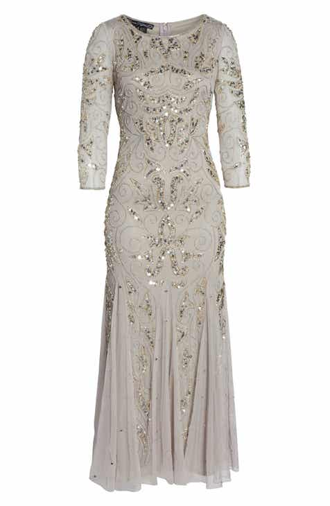 Pisarro Nights Embellished Mesh Gown (Regular   Petite) e74a5cabc
