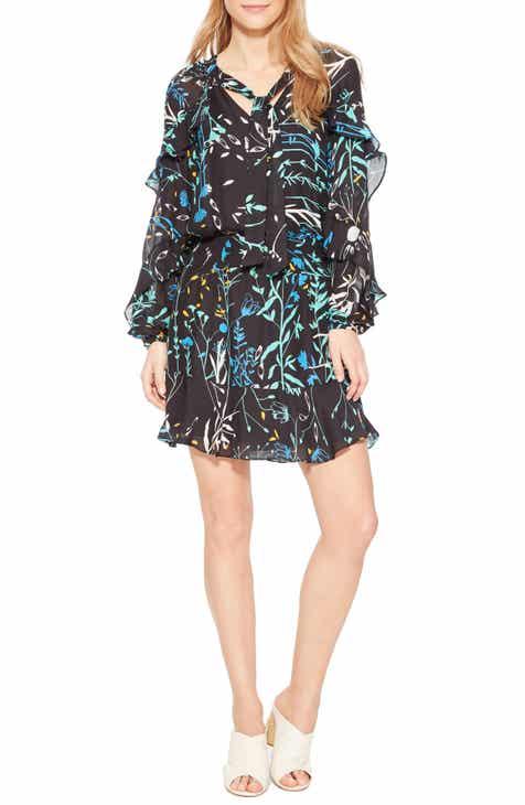 dde81018e1a Parker Gigi Ruffle Sleeve Silk Blend Dress