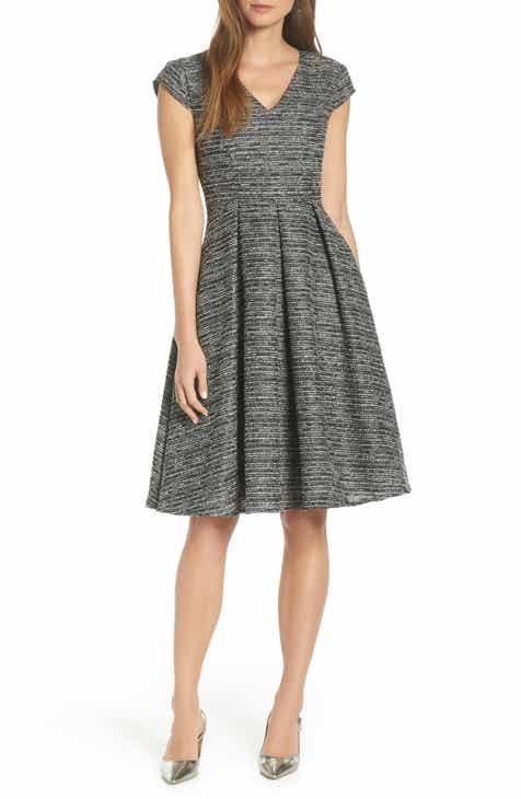 1901 Cap Sleeve Tweed Fit   Flare Dress 16aae290a